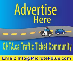 Advertise Here OHTA.ca Traffic Ticket Community